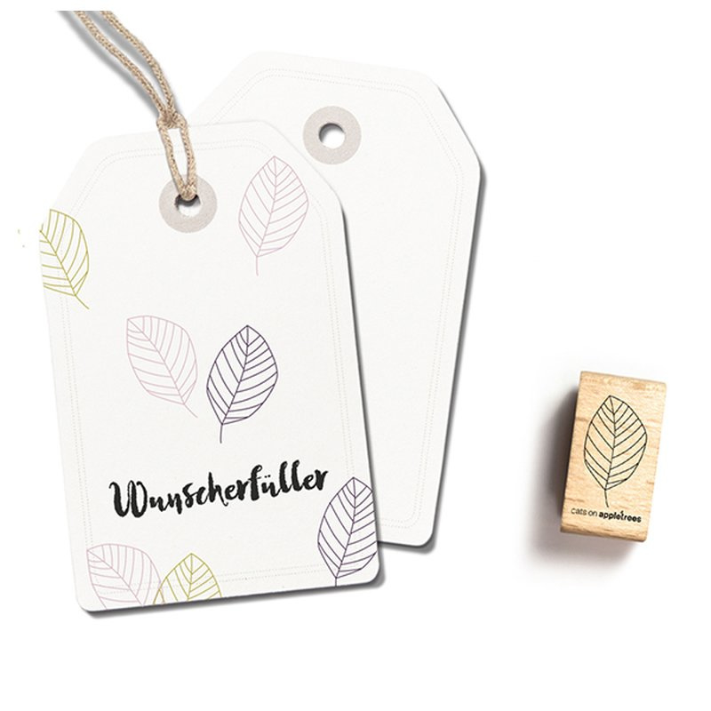 Wooden Stamp - Small Leaf