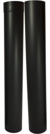 EW/Ø120mm Kachelpaspijp 105 - 195cm (met verjonging) Kleur: Zwart