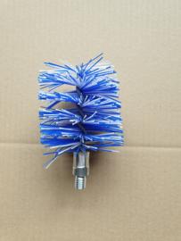 Nylonborstel rond Ø80mm (blauw/wit)