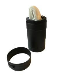 ISOTUBE Plus DW150/200mm Schuifpijp 257 - 390 mm - Zwart