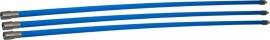Professionele blauwe veegset 3,60m met nylonborstel(Ø80, 100, 120, 125, 130, 150, 180, 200,250 mm)