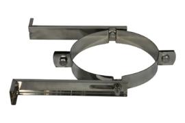 Muurbeugel RVS Blank 130mm