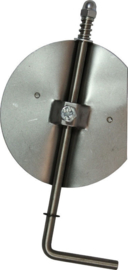 Losse klepsleutel/smoorklep Ø110 mm rvs staal