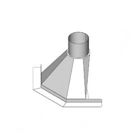 In de Hoek 55 cm rookkap naar Ø 200mm