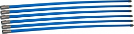 Professionele blauwe veegset 7,20m met nylonborstel(Ø80, 100, 120, 125, 130, 150, 180, 200, 250 mm)