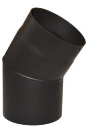 Enkelwandig 120 mm/2 mm  Bocht 33° - Zwart