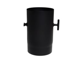 EW/120 2mm Smoorklep pijp 25cm -  Zwart