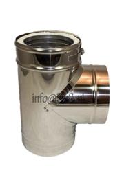 ISOTUBE Plus DW200/250mm T-stuk met dop CAM27