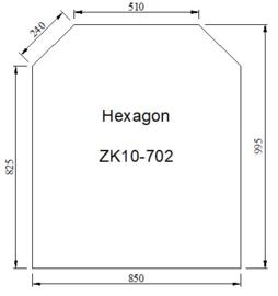 Kachelvloerplaat zeskant 850 x 1000 x 6 mm