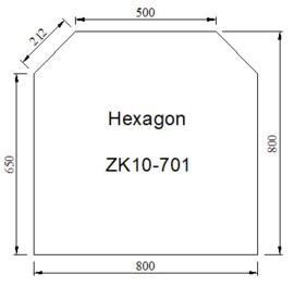 Kachelkvloerplaat zeskant 800 x 800 x 6 mm