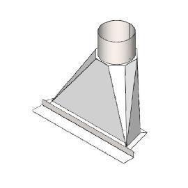 Front 55 cm rookkap naar Ø200 mm