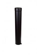 EW/120 2mm Paspijp 100cm met stelring - Zwart