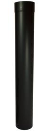 EW/Ø150 2mm Pijp 100cm zonder verjonging - Zwart