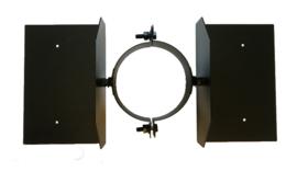 DW80/130mm dakbevestigingsbeugel - Zwart
