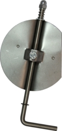 Losse smoorklep /klepsleutel 150 mm rvs staal