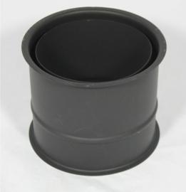 EW/Ø160 Nisbus dubbelwandig (zwart)