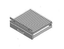 Vuurkorf modern rechtop voor 50B x 50H/100H ( Zwart )
