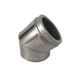 ISOTUBE Plus Twist Lock DW150|200 bocht 30 graden - zwart