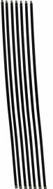 Veegset  8,40 meter met nylonborstel(Ø80, 100, 120, 125, 130, 150, 180, 200, 250 mm)