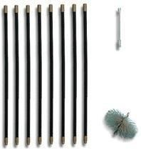 Complete veegsets - staalborstel (zwart)