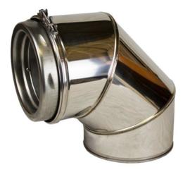 ISOTUBE Plus Twist Lock DW150|200 bocht 90 graden - zwart