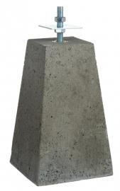 Betonpoer met huls en verstelbare plaat (24/15 x 40 cm)
