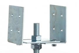Verstelbare beugels voor de betonpoeren