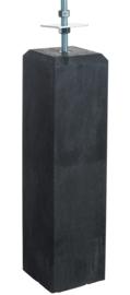 Betonpoer antraciet 20 x 20 x 57 cm met vaste draadstang (M16) en verstelbare plaat