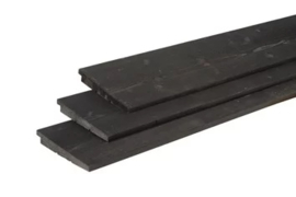 Zweeds rabat 1,1 - 2,7 x 19,5 x 300 cm Zwart gespoten Douglas
