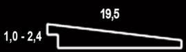 Zweeds rabat 1,0 - 2,4 x 19,5 x 500 cm Zwart gedompeld Douglas