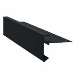 Aluminium daktrim zwart (RAL 9005)  45 x 45 mm lengte  250 cm