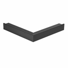 Buitenhoekstuk voor daktrim aluminium zwart (RAL 9005) 40 x 40 cm