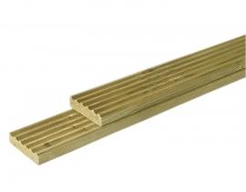 Grenen geprofileerd dekdeel 2,8 x 14,5 x 500 cm Geïmpregneerd