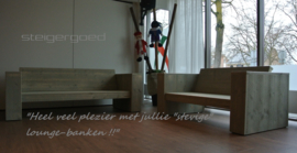 152) Steigerhouten louncheset