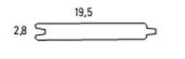 Blokhutprofiel  2,8 x 19,5 x 300 cm Blank Douglas