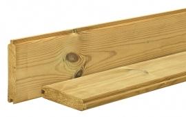 Blokhutplank Grenen 2,8 x 14,5 x 300 cm Geïmpregneerd