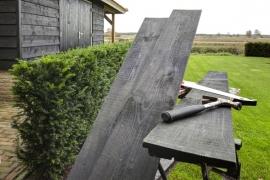 Zweeds rabat 1,1 - 2,7 x 19,5 x 400 cm Zwart gedompeld Douglas