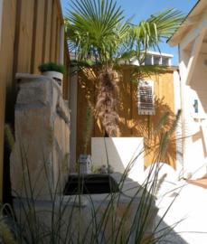 220) Strand overkapping bij huis