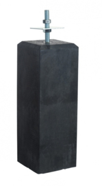 Betonpoer antraciet 18 x 18 x 50 cm met huls en verstelbare plaat