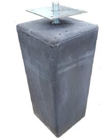 Betonpoer antraciet 22,5 x 22,5 x 50 cm (Taps) met huls en verstelbare plaat