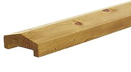 Afdekkap Grenen geïmpregneerd 3,5 x 8,5 x 235 cm
