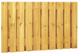 21-planks Grenen scherm 180 x 89 cm