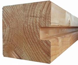 Eindpaal 14 x 14 x 240 cm Douglas