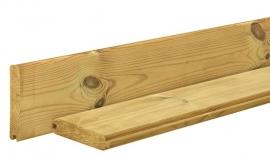 Blokhutplank Grenen 2,8 x 14,5 x 400 cm  Geïmpregneerd