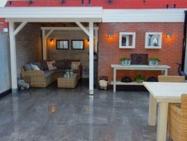 53) Geïmpregneerd Grenen overkapping met meubels