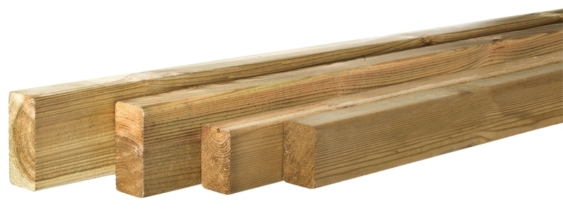 Grenen geschaafde regel 4,4 x 9,5 x 390 cm Geïmpregneerd