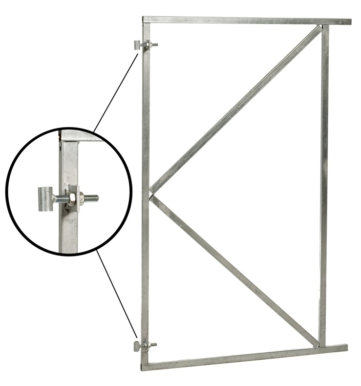 Poortframe verstelbaar (H) 155 x (B) 150