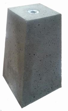 Betonpoer met huls (24/15 x 40 cm)