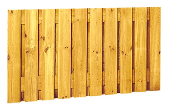 21-planks Grenen scherm 180 x 130 cm