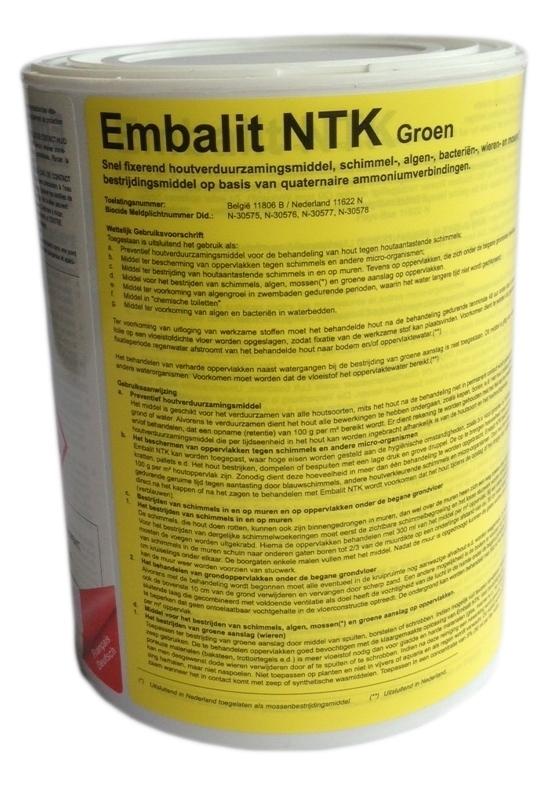 Impregneervloeistof 0,75 liter groen